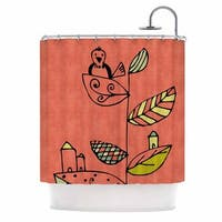 "KESS InHouse Carina Povarchik ""Be You"" Coral Kids Shower Curtain (69x70)"