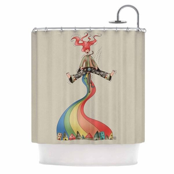 KESS InHouse Carina Povarchik Weeeee Fantasy Illustration Shower Curtain (69x70)