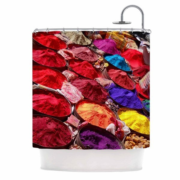 KESS InHouse Carina Povarchik Indian Powders Red Photography Shower Curtain (69x70)