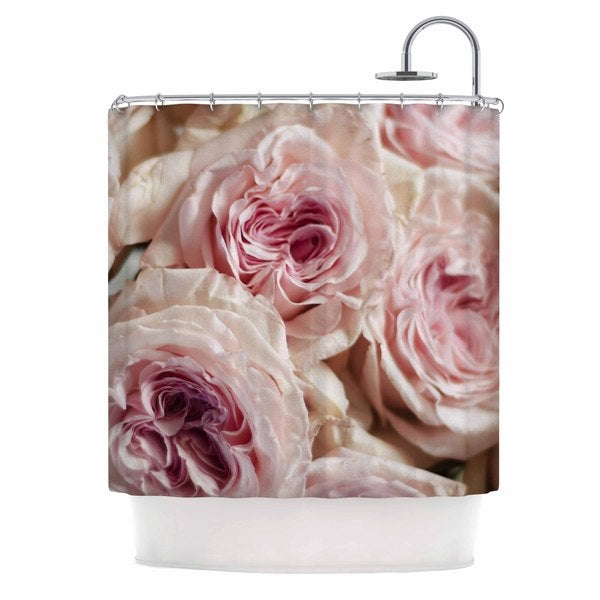 Shop KESS InHouse Crissy Mitchell Pink Roses Pastel Floral Shower Curtain 69x70