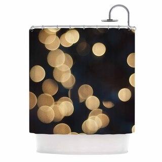 KESS InHouse Cristina Mitchell Blurred Lights Black Gold Shower Curtain (69x70)