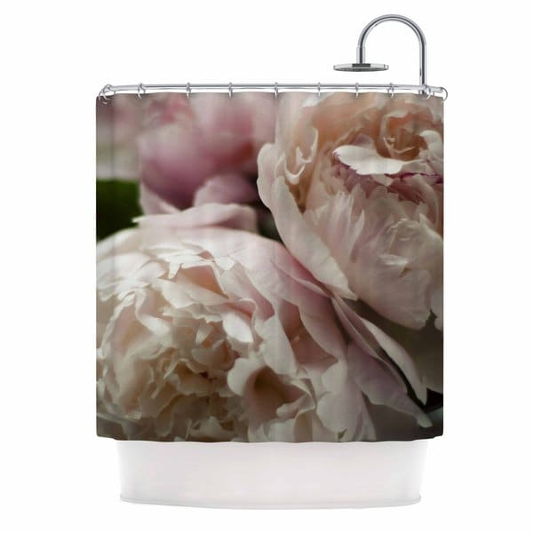 KESS InHouse Cristina Mitchell Peonies Pink White Shower Curtain (69x70)