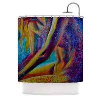 KESS InHouse Cecibd El Color De La Lluvia Blue Painting Shower Curtain (69x70)