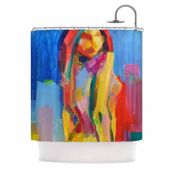 KESS InHouse Cecibd Violeta Red Painting Shower Curtain (69x70)