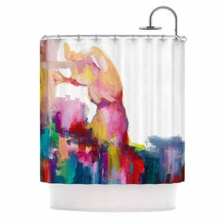 KESS InHouse Cecibd Espana III Magenta Painting Shower Curtain (69x70)
