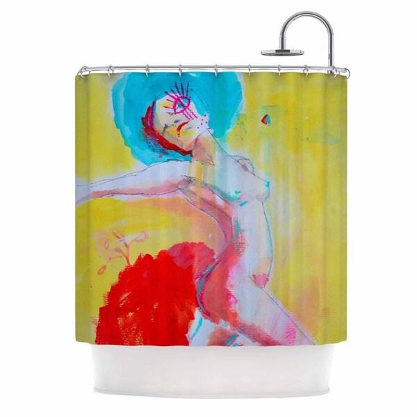 KESS InHouse Cecibd Circus Red Illustration Shower Curtain (69x70)