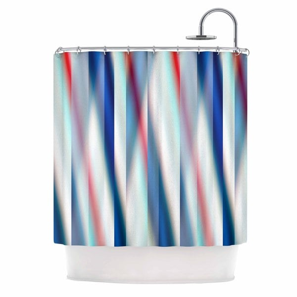 KESS InHouse Bruce Stanfield Ambient 12 Red Blue Shower Curtain (69x70)