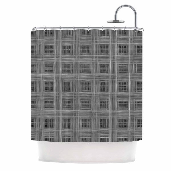 KESS InHouse Bruce Stanfield Ambient 10 Gray Pattern Shower Curtain (69x70)