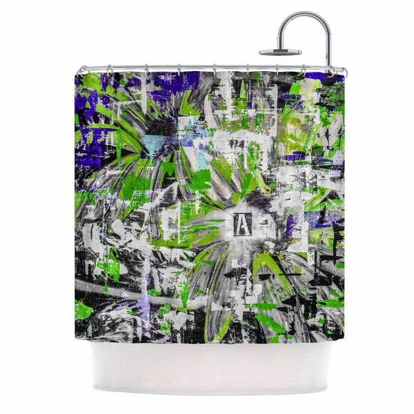 KESS InHouse Bruce Stanfield Life Through Adversity 2 Green Abstract Shower Curtain (69x70)