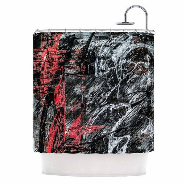 KESS InHouse Bruce Stanfield Areus Red Abstract Shower Curtain (69x70)