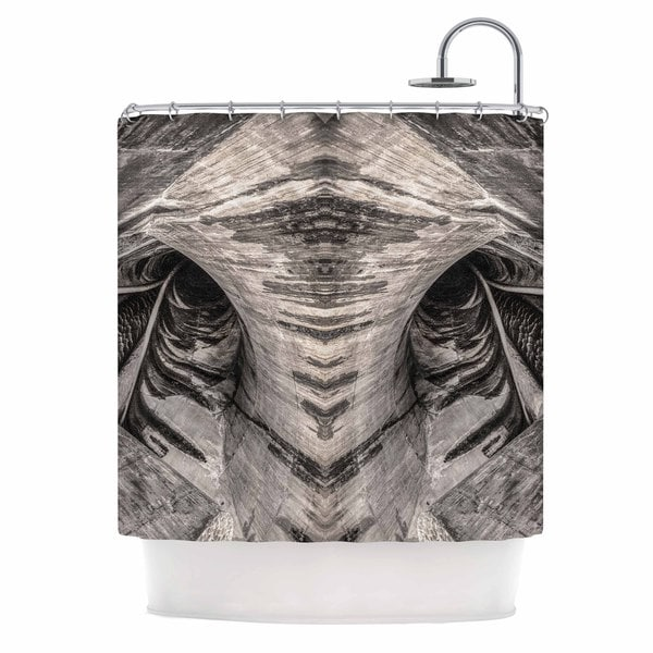 KESS InHouse Bruce Stanfield Dam Reticulation The Void Black White Shower Curtain (69x70)