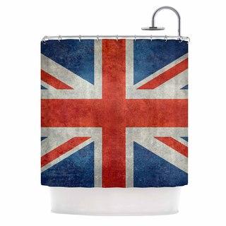 KESS InHouse Bruce Stanfield UK Union Jack Flag Red Blue Shower Curtain (69x70)