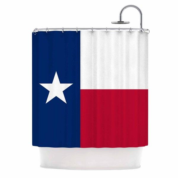 KESS InHouse Bruce Stanfield Texas Flag Red Blue Shower Curtain (69x70)