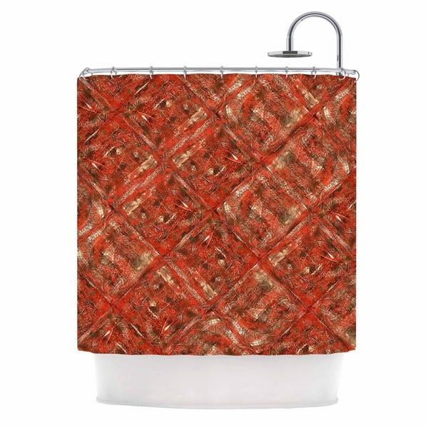 KESS InHouse Bruce Stanfield Malica Red Orange Shower Curtain (69x70)