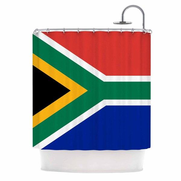 KESS InHouse Bruce Stanfield South Africa II Green Blue Shower Curtain (69x70)