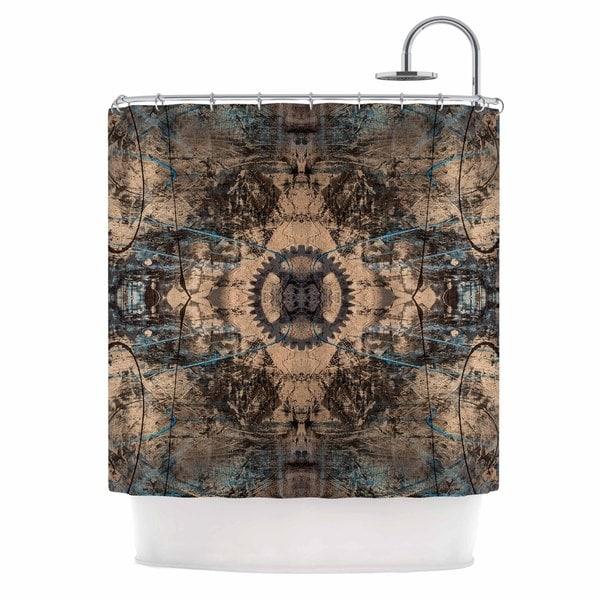 KESS InHouse Bruce Stanfield Zion 1178 Brown Blue Shower Curtain (69x70)