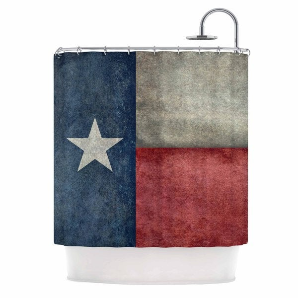 KESS InHouse Bruce Stanfield Texas State Flag Vintage Digital Shower Curtain (69x70)