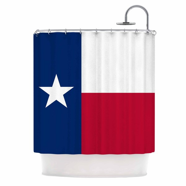 KESS InHouse Bruce Stanfield Flag of Texas Blue Red Shower Curtain (69x70)