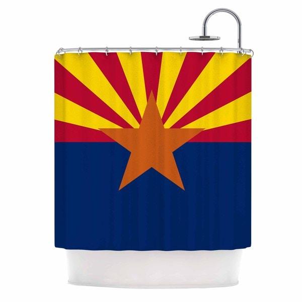 KESS InHouse Bruce Stanfield Flag Of Arizona Red Blue Shower Curtain (69x70)
