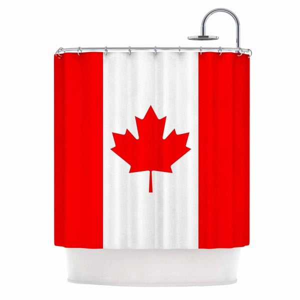 KESS InHouse Bruce Stanfield Flag of Canada Red White Shower Curtain (69x70)