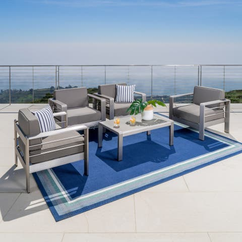 Cape Coral Outdoor 5-piece Seating Set with Cushions by Christopher Knight Home