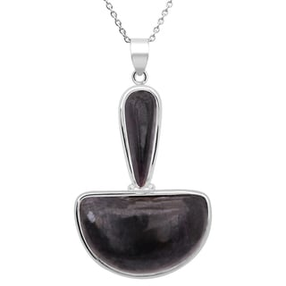 Orchid Jewelry 33 Carat Sugilite Sterling Silver Handmade Pendant Necklace