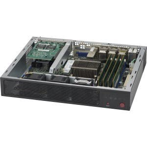 Supermicro SuperServer E300-8D 1U Mini PC Server - 1 x Xeon D-1518 - Serial ATA/600 Controller