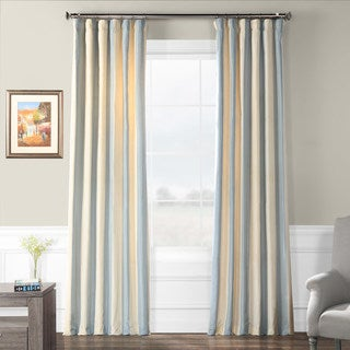 Exclusive Fabrics Hampton Faux Silk Taffeta Stripe Curtain Panel