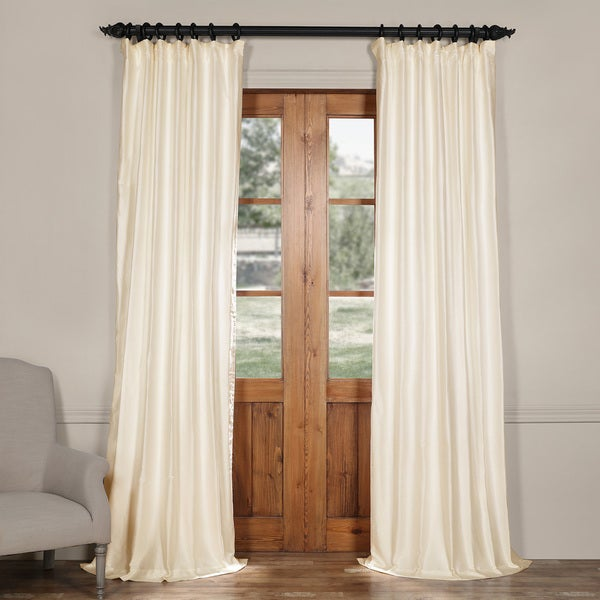 Exclusive Fabrics Cotton and Silk Blend Curtain Panel