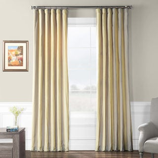 Exclusive Fabrics Riviera Faux Silk Taffeta Striped Curtain