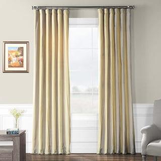 Exclusive Fabrics Riviera Faux Silk Taffeta Striped Curtain