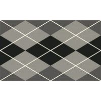 Machine Woven Aspen (Silver/Black) 100% Natural Coir Doormat