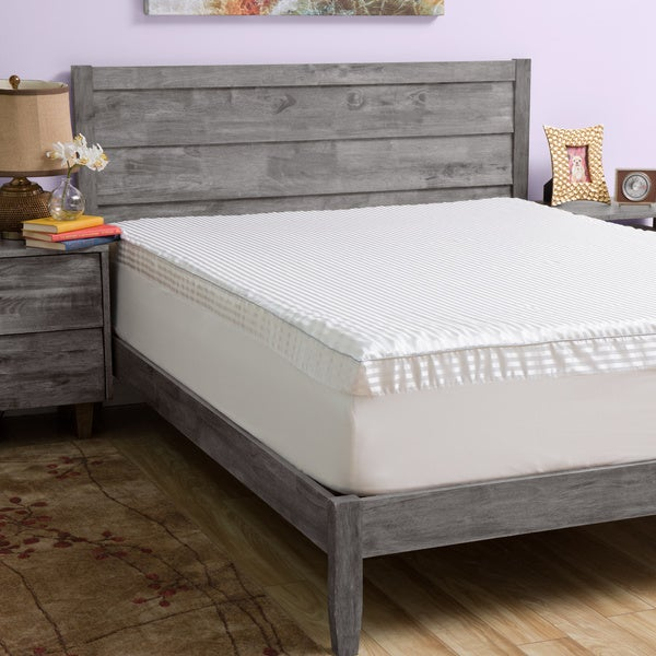 shop grande hotel collection big comfort 3 inch memory foam mattress topper with cover in full. Black Bedroom Furniture Sets. Home Design Ideas