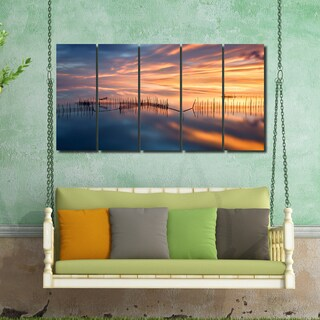 Ready2HangArt Indoor/Outdoor 5 Piece Wall Décor Set 'Fish Nets' in ArtPlexi - Multi-color