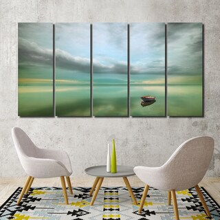 Ready2HangArt Indoor/Outdoor 5 Piece Wall Décor Set 'Calm' in ArtPlexi - Multi-color