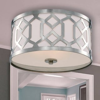 Crystorama Jennings Collection 3-light Polished Nickel Flush Mount