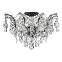 Crystorama Filmore Collection 5-light Vibrant Bronze/Swarovski Elements Strass Crystal Semi-Flush Mount