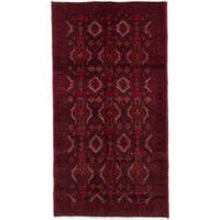 ecarpetgallery Hand-Knotted Finest Baluch Red  Wool Rug (3'3 x 6'2)