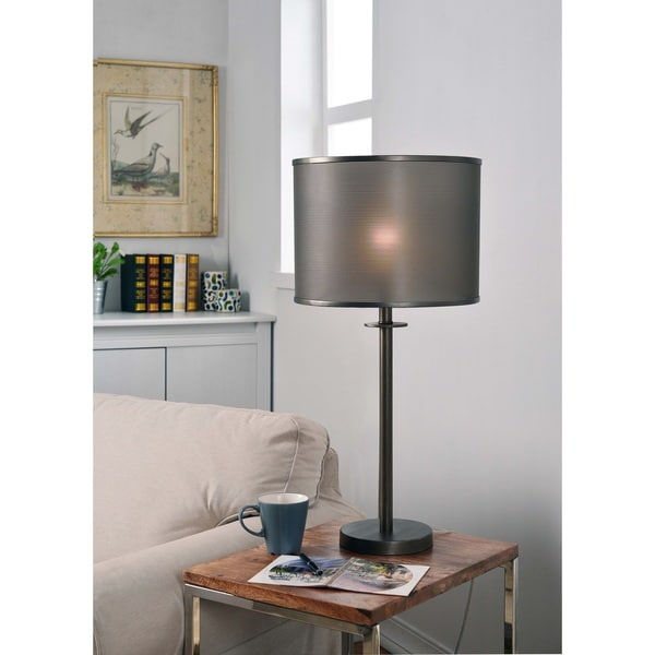 Design Craft Crater Graphite 29-inch Table Lamp - Grey