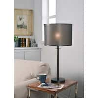 Crater Graphite 29-inch Table Lamp