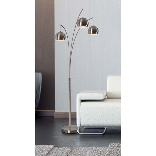 Noah Brushed Steel 84-inch Arc Floor Lamp