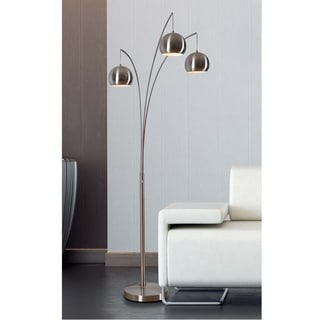 Design Craft Noah Brushed Steel 84-inch Arc Floor Lamp