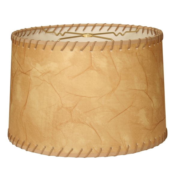Shop Royal Designs Shallow Drum Lamp Shade, Light Brown