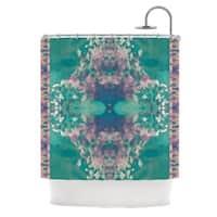 KESS InHouse Nina May Ashby Blossom Teal Shower Curtain (69x70)