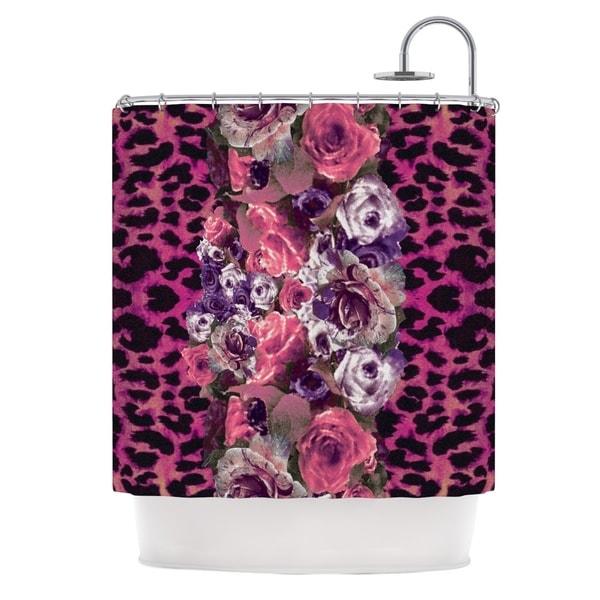 KESS InHouse Nina May Rose Stripe Shower Curtain (69x70)