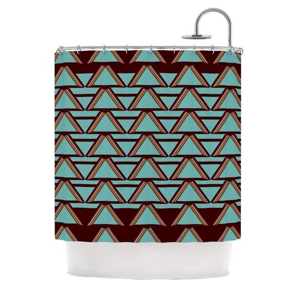KESS InHouse Nina May Deco Angels Choco Mint Shower Curtain (69x70)