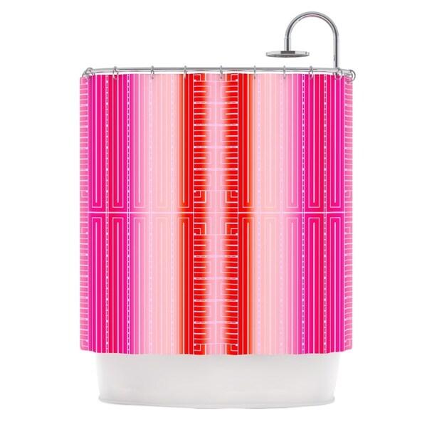 KESS InHouse Nina May Deco City Blush Shower Curtain (69x70)