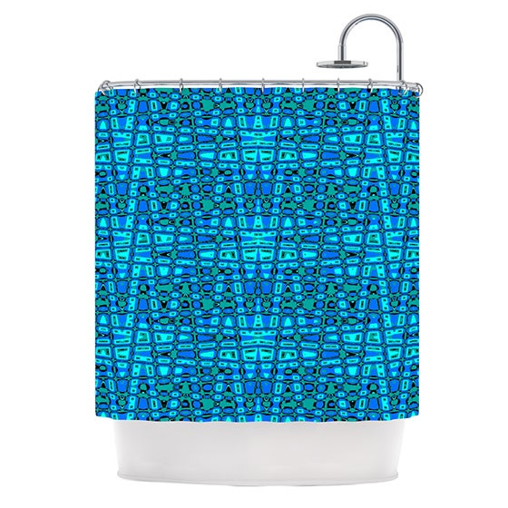 KESS InHouse Nina May Variblue Shower Curtain (69x70)