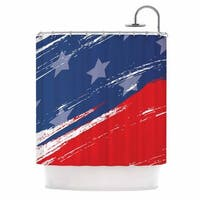 KESS InHouse NL designs Red White Blue Red White Shower Curtain (69x70)