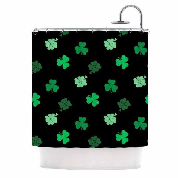 KESS InHouse NL Designs Shamrocks Green Holiday Shower Curtain (69x70)